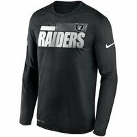 Las Vegas Raiders Nike Sideline Impact Legend Performance Dri-FIT Long T-Shirt