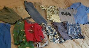 Lot of 15 pcs -  Boys Clothes - Size 5T & 6: Shirts, Shorts, Pants, Jammies