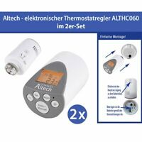 2 Stück Elektronischer Heizkörperthermostat Thermostatventil Altech ALTHC060
