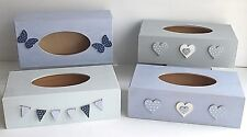 Shabby Chic Wooden Hand Painted Tissue Box Cover Holder