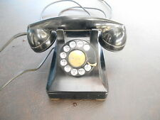 Vintage Western Electric Bell System Model F1 Black Rotary Telephone!