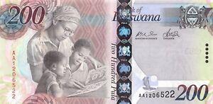 Botswana 200 Pula 2009 Unc Pn 34a