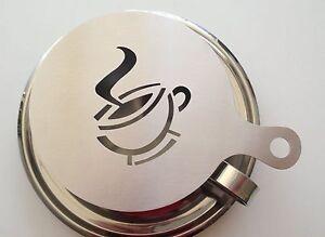 3Pcs Stainless Steel Coffee Art Barista Latt Art Stencils