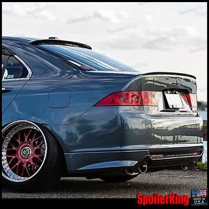 COMBO Rear Roof Wing & Trunk Lip Spoiler (Fits: Acura TSX 2004-08 CL9) 284R/244L