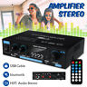 Audio Digital Stereo bluetooth Amplifier HIFI Car Home USB MP3 Player AMP Remote