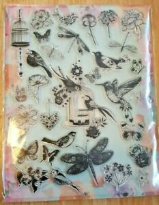 Large Acrylic Clear Stamp Set - Crafts Card Making Scrapbooking 32 stamps (lotA)