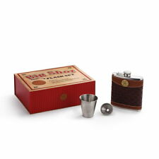 Big Shot Flask Gift Set Great Gift New in Gift Box Stainless Steel