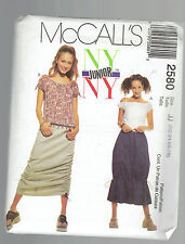 McCALLS pattern 2580 Skirts tops funky Sz 1 2 3 4 5 6 7 8 uncut unused
