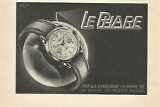 vintage 1958 print ad LE PHARE Swiss Suisse watch movement MID CENTURY ART