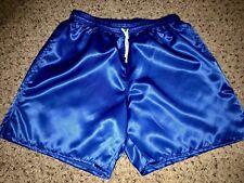 Nylon Satin Soccer Shorts Royal Blue NWT Silky Shiny Shorts