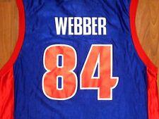 Vintage Chris Webber #84 Detroit Pistons Basketball Jersey, Adult Large, NICE!!