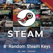 8 Premium Gold Random Steam Keys PC + BONUS (Global ~ Region Free)