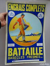 jolie affiche engrais complet battaille au semeur franco belge fresnes - nord