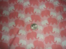 COTTON FABRIC PINK ELEPHANTS BY THE YARD