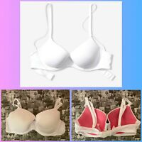 New Victoria's Secret PINK Everywhere Lightly Lined Bra White  U Choose SIZE