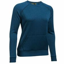 Under Armour UA Storm Ladies Blue Sports Warm Fleece Crew Neck Sweatshirt S