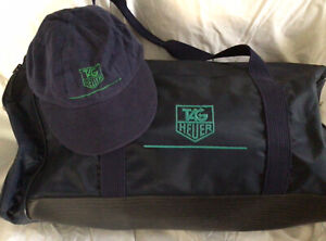 TAG HEUER TERRIFIC COMBO BAG/HAT  GREAT GIFT SEE PHOTOS