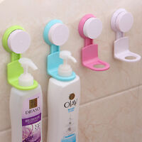 Wall Mounted Shampoo Shower Gel Bottle Holder Suction Cup Rack Bathroom Storage