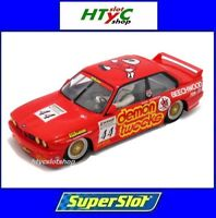 SUPERSLOT BMW M3 E30 #44 RATZENBERGER DEMON TWEEKS BTCC 1988 SCALEXTRIC UK H3739