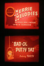 """16MM SOUND-""""BAD O' PUTTY TAT""""-1949-TWEETY & SYLVESTER-MERRIE MELODIES CARTOON"""
