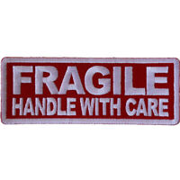 FRAGILE, HANDLE WITH CARE -  IRON or SEW ON PATCH