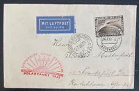 1931 Germany Graf Zeppelin LZ 127 Polar Flight  Ice Bkr Cover To Frankfurt Sc#42
