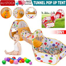 Kids Play Tent, 3pcs Pop Up Tent Toddlers Crawl Tunnel Baby Playhouse Ball Pit