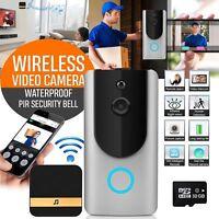 Wireless Smart Video Phone WiFi IR Night Visual Camera Record Security Door Bell