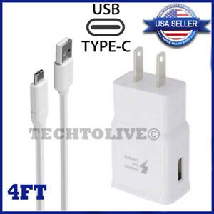 Fast Wall/Car Charger Type C USB-C Cable For OEM Samsung Galaxy S10 S9 S8 Note 8