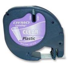 DYMO 12 mm LetraTag ruban étiquette Plastique Transparent 4 m
