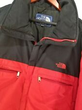 North Face XL Men Puffy Jacket Red Black 80s VTG Coat Ski Insulated Zip Pocket