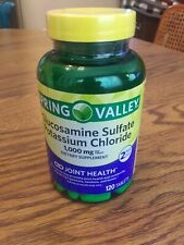 Spring Valley Glucosamine Sulfate Potassium Chloride 1000mg 120 Tablets Exp 6/22
