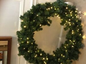 Beautiful Giant Commercial Christmas Wreath with lights - 50 inch diameter
