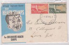 (ICE-50) 1951 NZ FDC 1½d &2d health