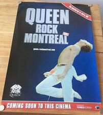QUEEN - ROCK MONTREAL ORIGINAL USA CINEMA PROMO POSTER for LP DVD 60 x 84 CM