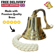 More details for antique brass wall bell vintage ship's school pub last orders dinner door 5 inch