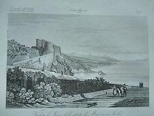 1845 Zuccagni-Orlandini Veduta di Jaci Iaci e dello Stretto di Messina Sicilia