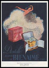 Publicité Parfum Dentelle de BIENAIME Draeger perfume ad  1947 - 1i