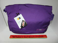 "Laptop CASE LOGIC Bag MLM-111 Purple 11"" Chromebook Laptop + iPad Messenger New"