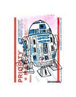 R2D2 Robot Street Art Graffiti Sticker Drawing Priority Mail