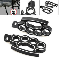 Billet Aluminum Black Left & Right Flying Knuckle Control Foot Pegs  For Harley