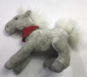 "Wells Fargo Legendary Plush Pony Shamrock 2013 Gray 12"" Long Bank Horse"