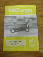 05/10/1984 Raceweek: News Pictorial & Race Programme - Crayford Stadium & 07/10/