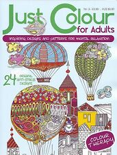 JUST COLOUR FOR ADULTS No.3  ~ Adult & Older Children colouring book Great Gift