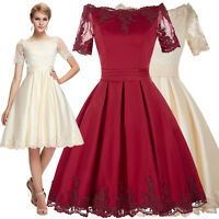 Short Sleeve Women Ball Gown Formal Cocktail Evening Prom Party Bridesmaid Dress