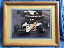 RENAULT ELF FORMULA 1 Racing Framed Photograph Derek Warwick 1984-85 Michelin