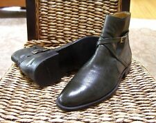 """Bally Mens Leather Chelsea Buckle Ankle Boots Size 8.5/7.5 EU  """"$675.00"""""""