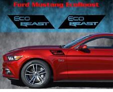 Ford Mustang Ecoboost Eco Beast Fender Vinyl Decal Sticker EcoBeast Emblem Solid