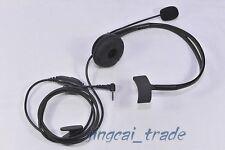 Overhead Headphone Headset for Motorola Radio 1-Pin 2.5mm with boom mic