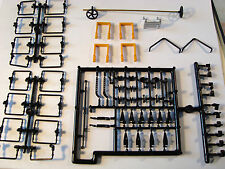 BIG 76 PIECE  SET OF G-SCALE BOXCAR, REEFER, FLATCAR DETAIL REPAIR PARTS ALL NEW